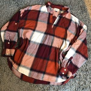 COPY - Universal Threads V Neck Red Flannel XL